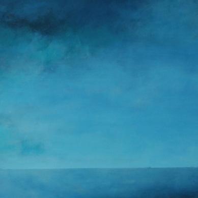 2014 huisjes op de horizon 70 x 180 olie op doek